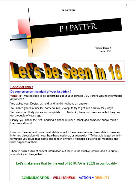 PI Patter January Newsletter 2016